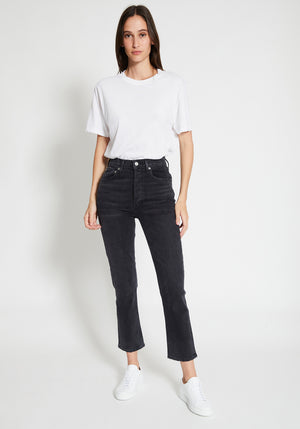 Riley Hi Rise Straight Crop Jeans Progress