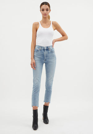 Riley Hi Rise Straight Crop Jean Zepher