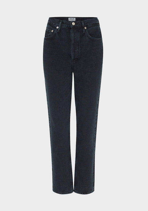 Riley High Rise Jean Straight Satellite
