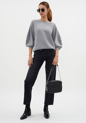 Thora 3/4 Sleeve Sweatshirt Zinc