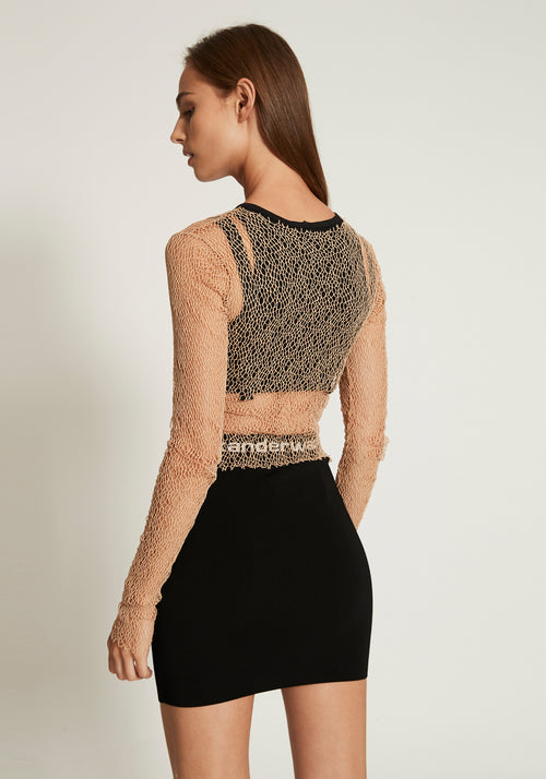 Bodycon Bi-Layer Mini Skirt