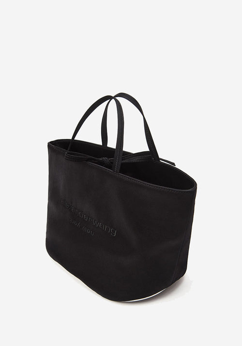 Halo Satin Tote Black
