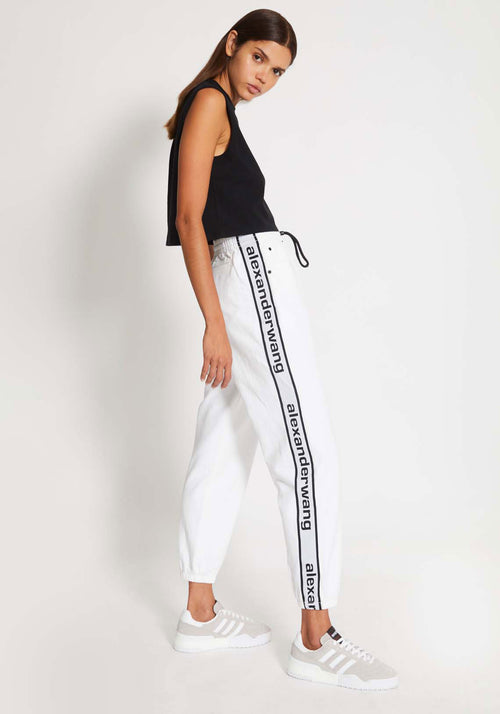 Logo Tape Jogger Optic White