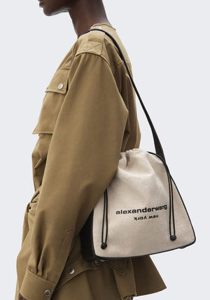 Ryan Canvas Shoulder Bag White