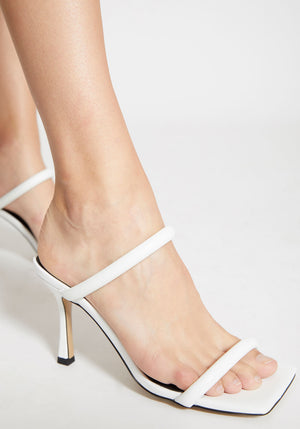 Lee Heel White Leather
