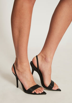 Xanthe Heel Black Leather