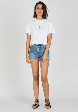 Hudson Monogram Tee Optic White