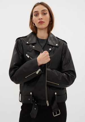 Maverick Leather Jacket Black