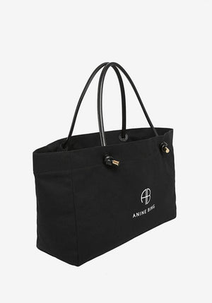 Medium Saffron Tote Black