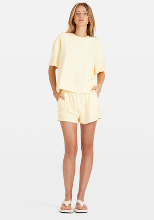 Pre-Order | Exclusive Terry Boyfriend Tee Shorts Set Butter