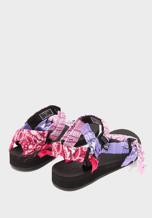 Trekky Bandana Sandals Mix Pink