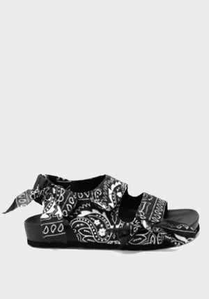 Apache Bandana Sandals Black