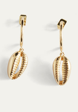 Athena Cowrie Hoops