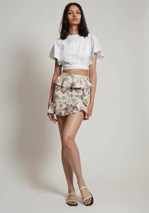 Avery Ruffle Mini Skirt
