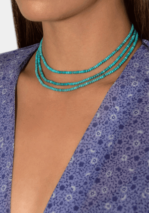 Cher Necklace Turquoise Sml 40cm