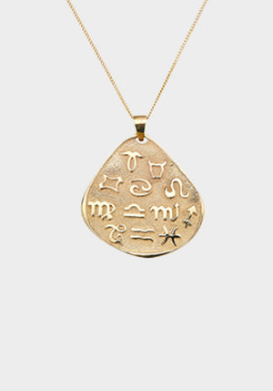 Talisman Zodiac Large Medallion Yellow Gold