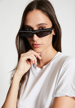 Ski Rectangle Sunglasses Black