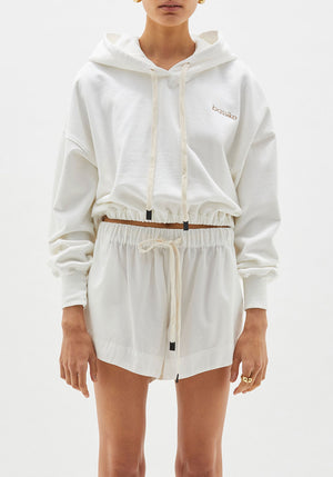 Branded Cropped Hooded Sweat