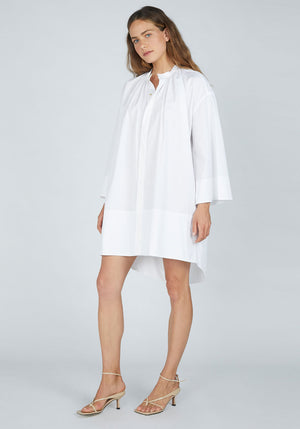 Cotton Gathered Voluminous Dress