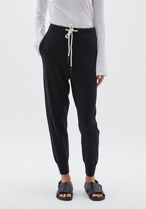 Cotton Knit Trackpant Black