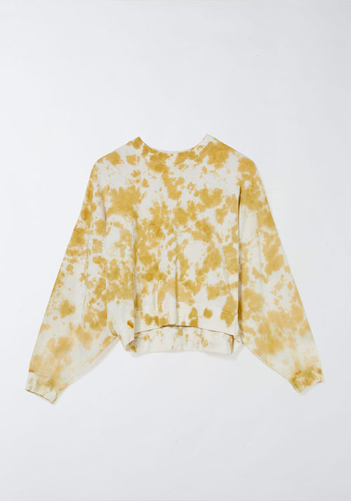Motley Cropped Double Jersey Sweat Light Ochre