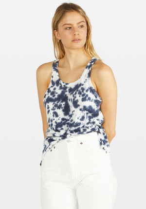 Motley Slouch Athletic Tank Navy