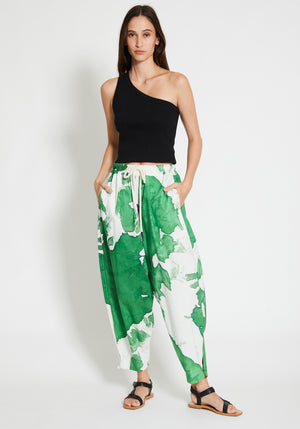 Motley Voluminous Pant White/Green