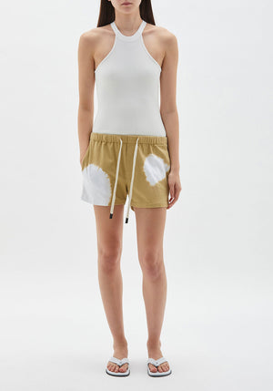 Radial Dye Jersey Beach Short Taupe