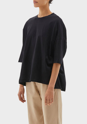 Slouch Side Step Short Sleeve T-Shirt Black