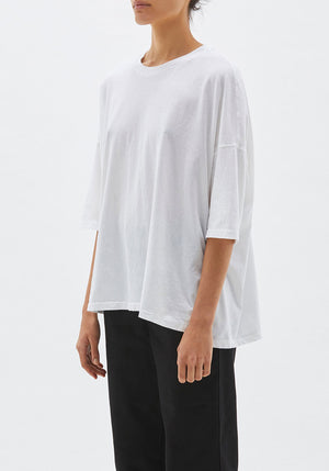 Slouch Side Step Short Sleeve T-Shirt White