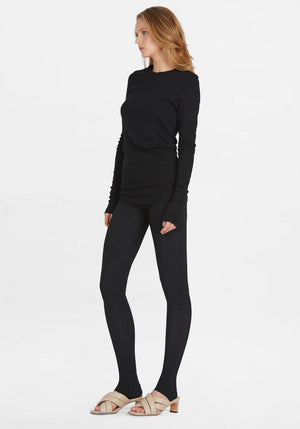 Superfine Rib Long Sleeve T-Shirt Black