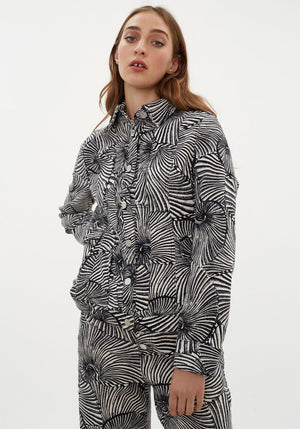Becca Jacket Tiger Shell Black