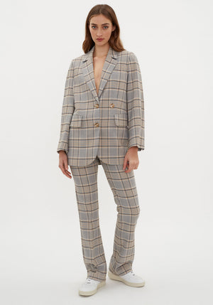 Braida Jacket Houndstooth Blue/Yellow