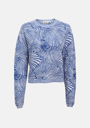Carmelia Sweater Tiger Shell Blue
