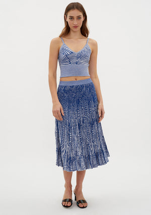 Cyrilla Skirt Tiger Shell Blue