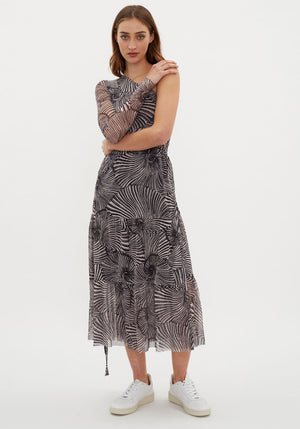 Jeovanna Skirt Tiger Shell Black