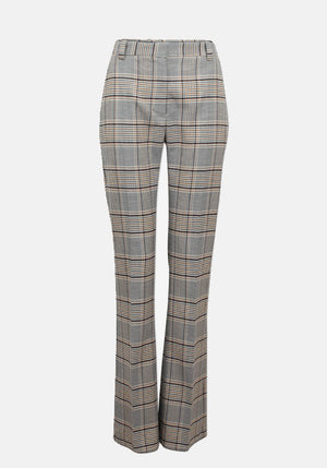 Nena Pant Houndstooth Blue/Yellow