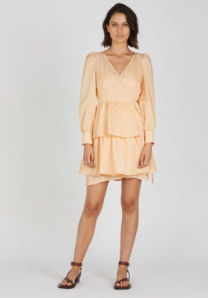 Akeisha Dress Apricot Sherbet