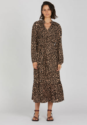 Antoinette Dress Natural Leopard
