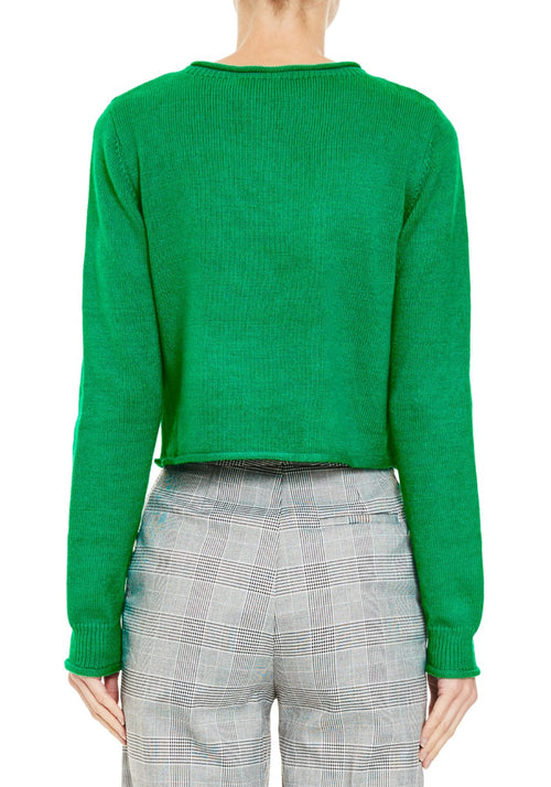 BELLA CROPPED JUMPER BRIGHT GREEN