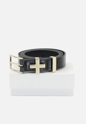 The Brooklyn Croc Belt Gold