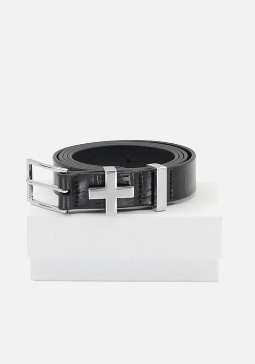 The Brooklyn Belt Croc Silver