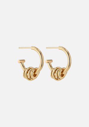 Bound Wrap Hoops Gold