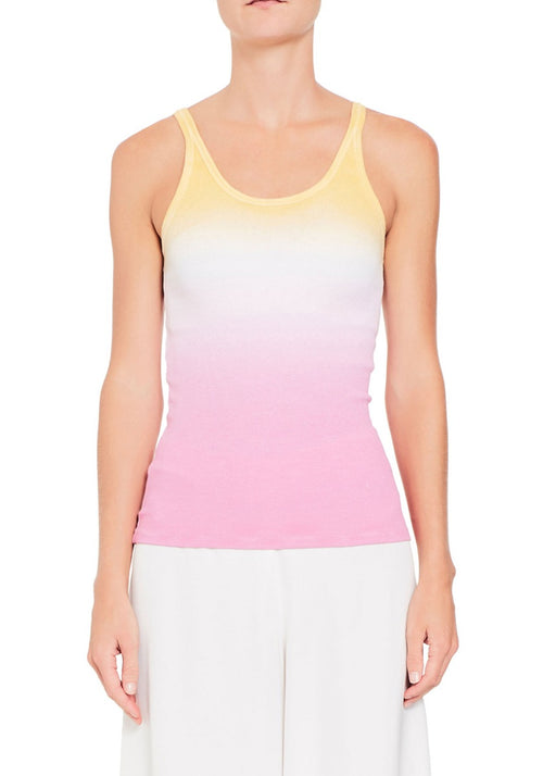 BOYFRIEND RIBBED TANK SUNSET