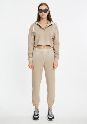 Brooklyn Crop Zip Sweat
