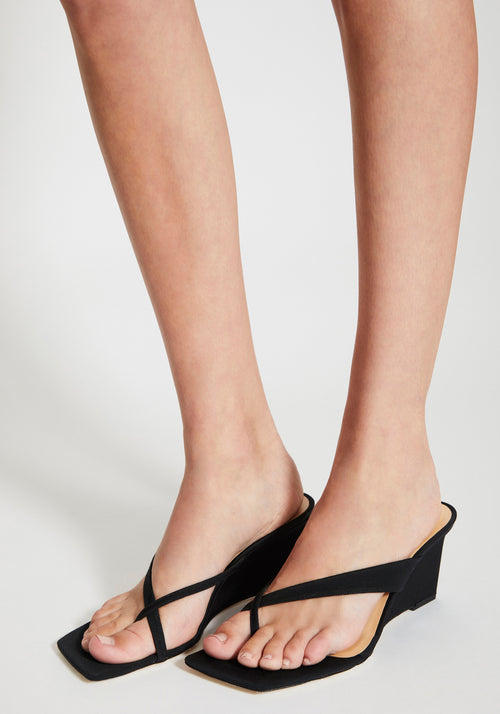 Theresa Grosgrain Mule Black