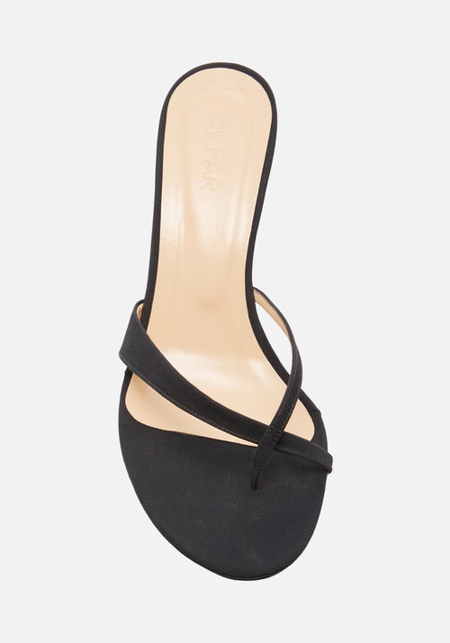 Theresa Grosgrain Mule Black - By Far - Tuchuzy