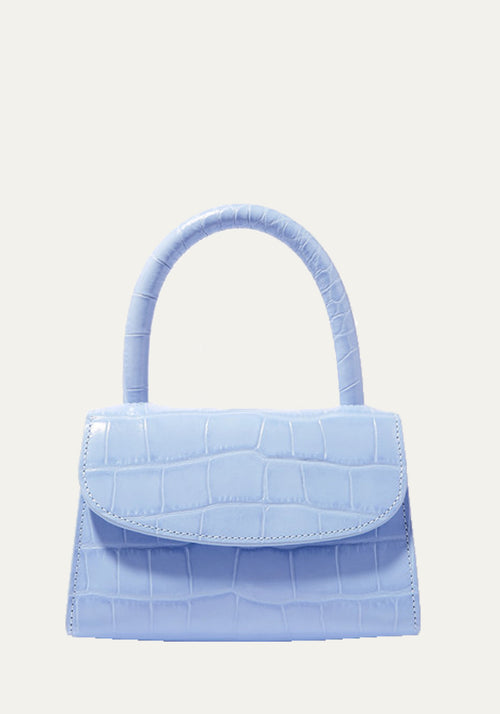 Mini Croc Embossed Bag Sky Blue
