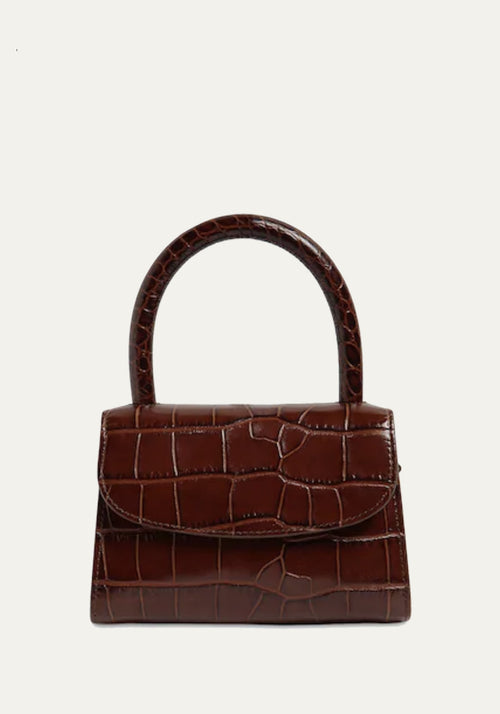 Mini Croc Embossed Bag Nutella