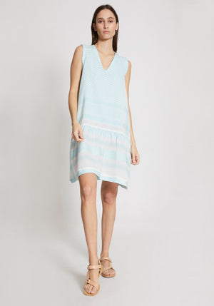 Dress 2 V No Sleeves Mist